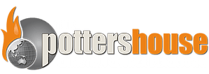 Potters house logo aligned in top navigation bar.